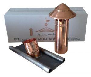 Schornsteinaufsatz Hut in Kupfer auch für Dachschrägen