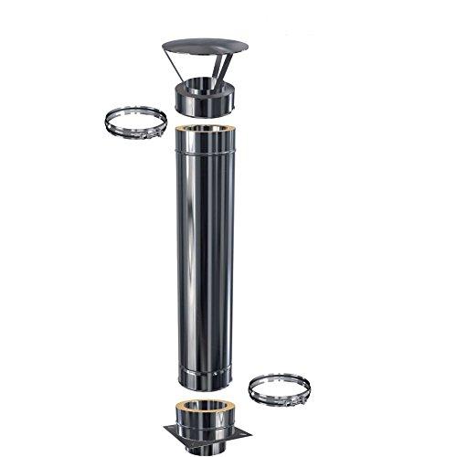Schornsteinverlängerung Doppelwandig DW 180 – 1,5 m – 0,5 mm