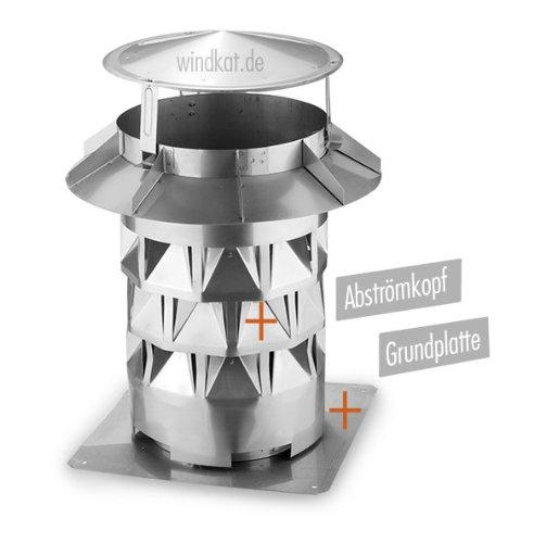 Windkat Schornsteinaufsatz mit Grundplatte Nennweite Ø 200 mm